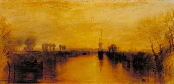 Chichester Canal c.1829 Joseph Mallord William Turner 1775-1851 Accepted by HM Government in lieu of tax and allocated to the Tate Gallery 1984. In situ at Petworth House http://www.tate.org.uk/art/work/T03885