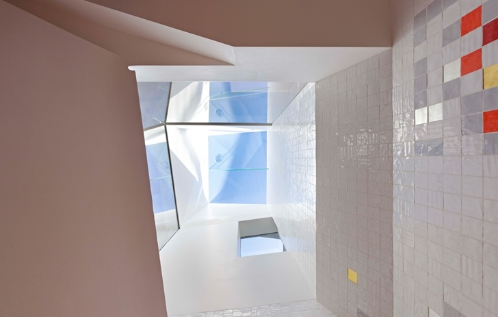 Roof window in Lavender Bay Boatshed by Stephen Collier Architects