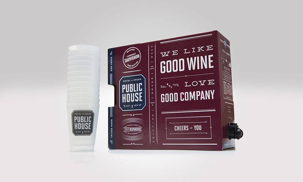 Public House Wine Top Package Designs