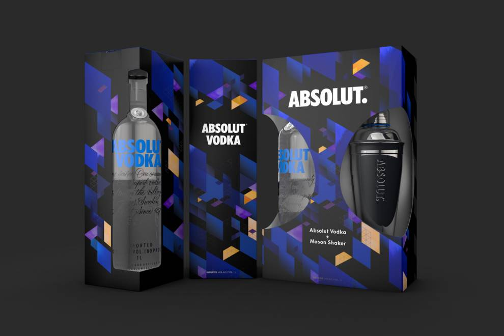 Absolut Vodka Geometric Package Designs